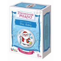 Рукодельное мыло с картинкой «Дед Мороз»
